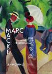 August Macke und Franz Marc. Eine Künstlerfreundschaft - Ausstellungsplakat mit Promenade von Macke (mit Text).