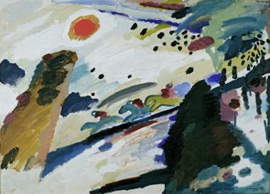 Kandinsky, Wassily: Romantische Landschaft (Plakat)