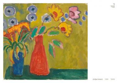Gabriele Münter, Vase Rouge, 1909 (Plakat)