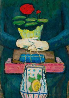 Gabriele Münter, Stilleben in der Trambahn (Nach dem Einkauf), um 1912 (Plakat)