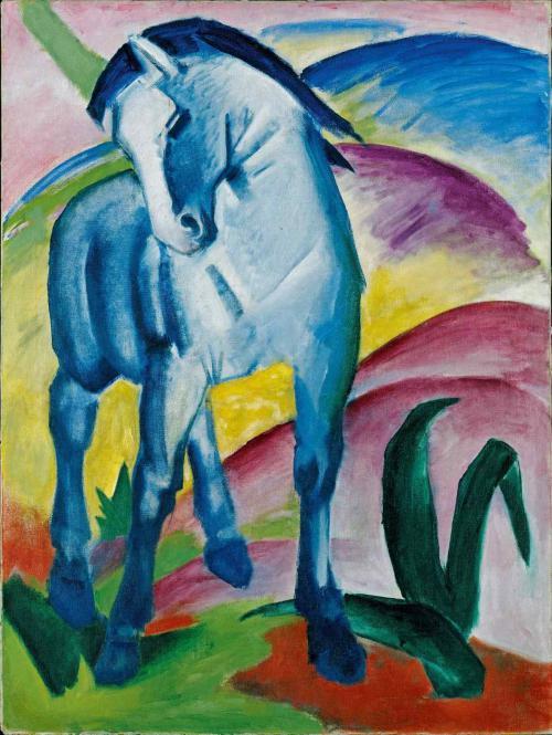 Marc, Franz: Blaues Pferd (Plakat)