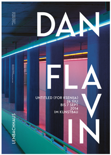 Flavin, Dan. Untitled (For Ksenija). Ausstellungsplakat