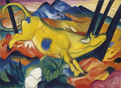 Marc, Franz: Die gelbe Kuh 1911 (Druck)