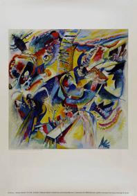 Kandinsky, Wassily: Improvisation Klamm, 1914 (Plakat)