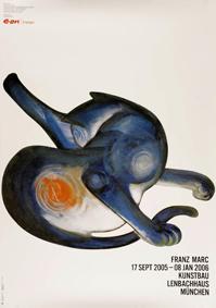 Marc, Franz: Ausstellungsplakat Katze