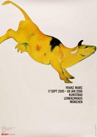 Marc, Franz: Ausstellungsplakat Kuh