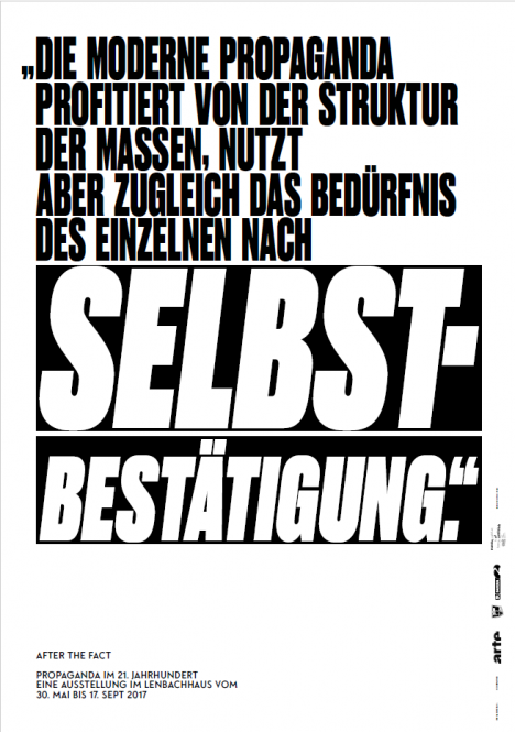 "AFTER THE FACT (Plakat ""Selbstbestätigung"")"