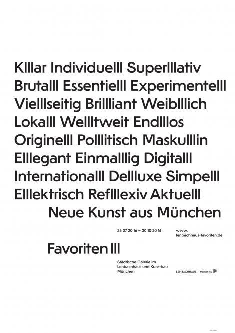 FAVORITEN III: Neue Kunst aus München (Plakat)